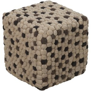 Parsons Wool Cube Ottoman by Union Rustic