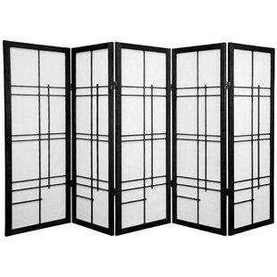 World Menagerie Clara Shoji 5 Panel Room Divider