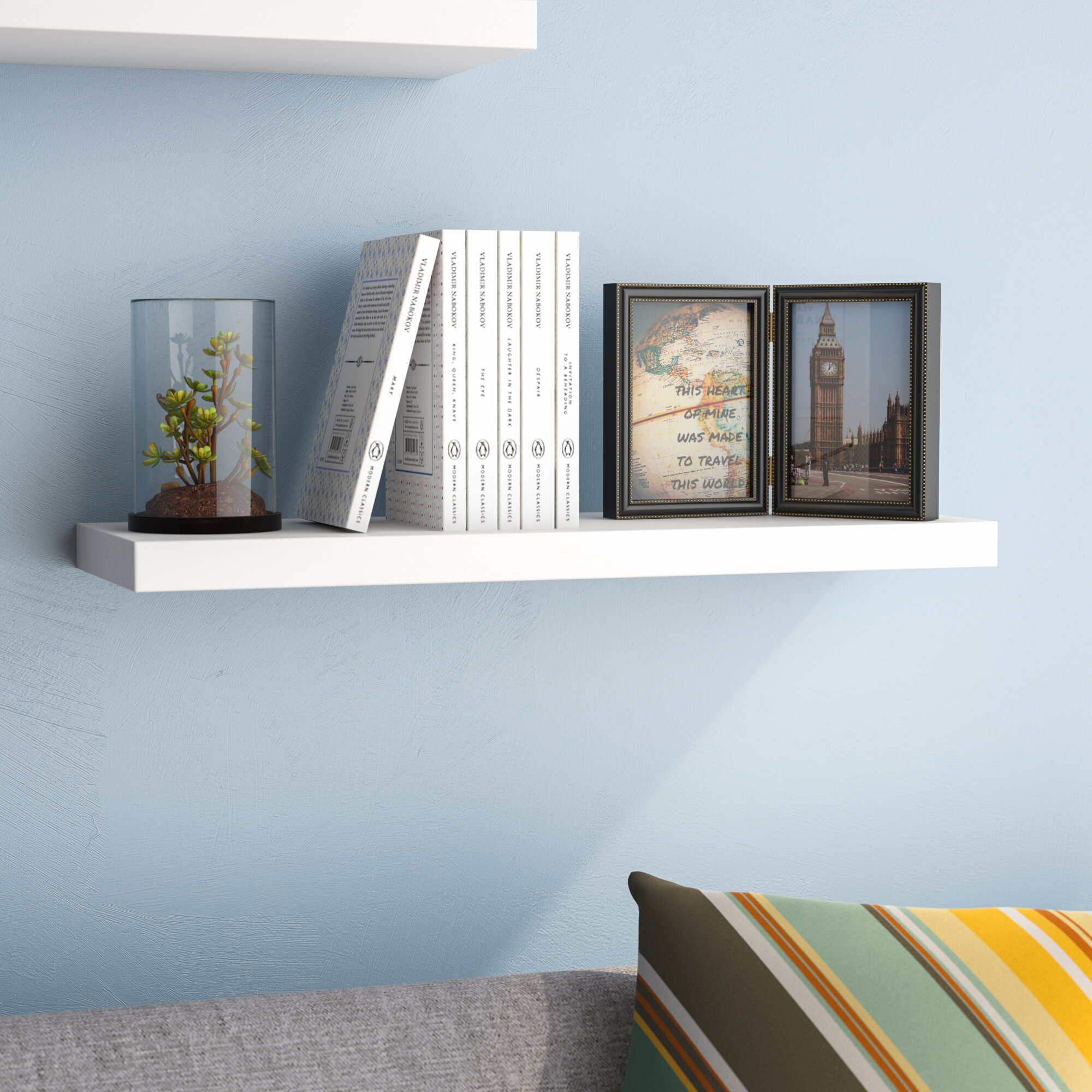 Ebern Designs Board Line Floating Wall Shelf & Reviews | Wayfair