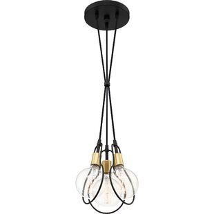 Wrought Studio Thermopolis 3-Light Cluster Pendant