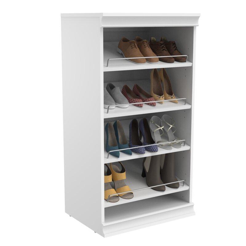 "Modular Storage 21.38"" Stackable Shoe Shelf Unit"