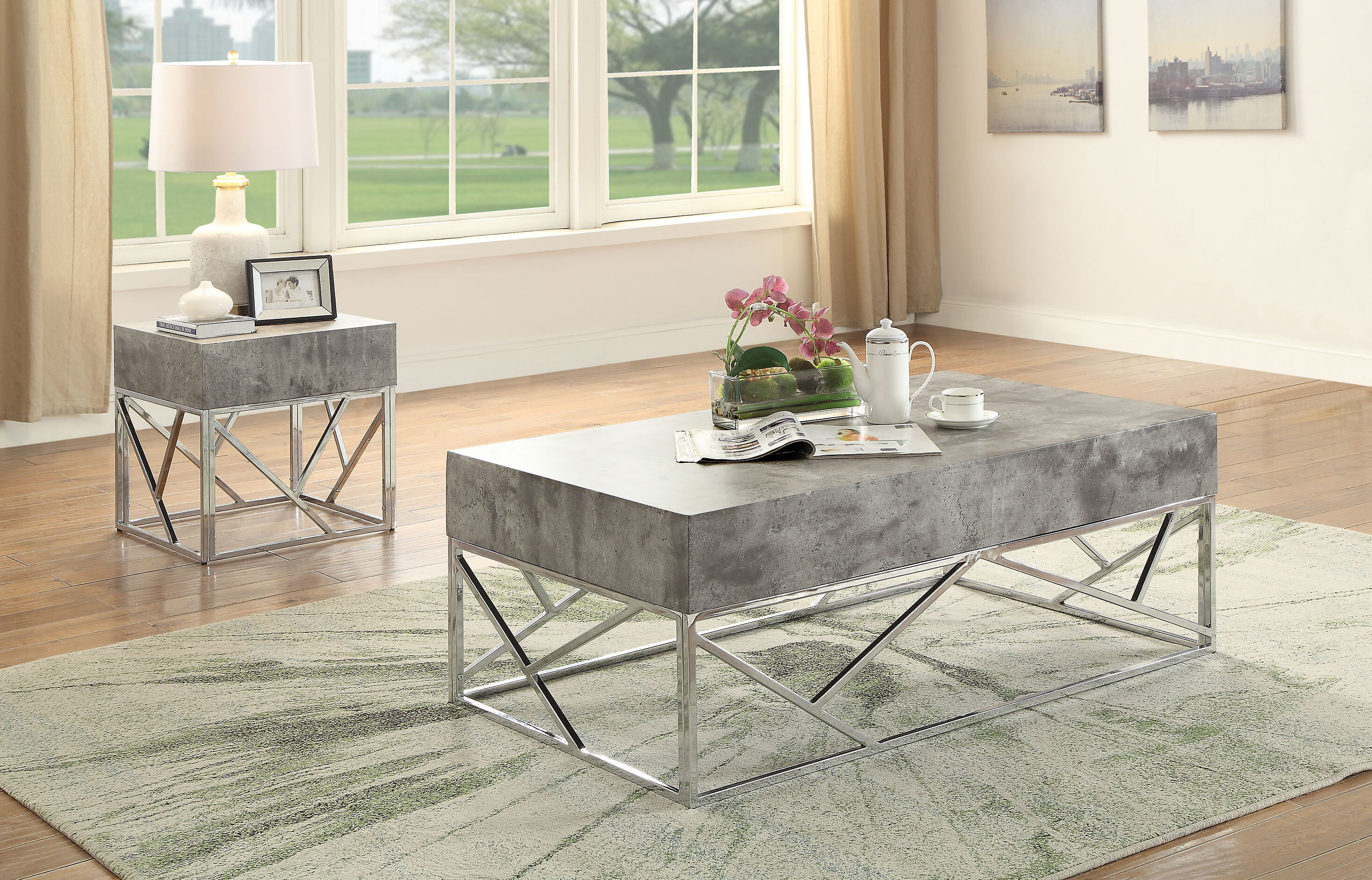 Superieur Orren Ellis Hutson 2 Piece Coffee Table Set | Wayfair