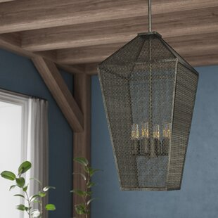 Zonia 4-Light Foyer Lantern Pendant by Laurel Foundry Modern Farmhouse