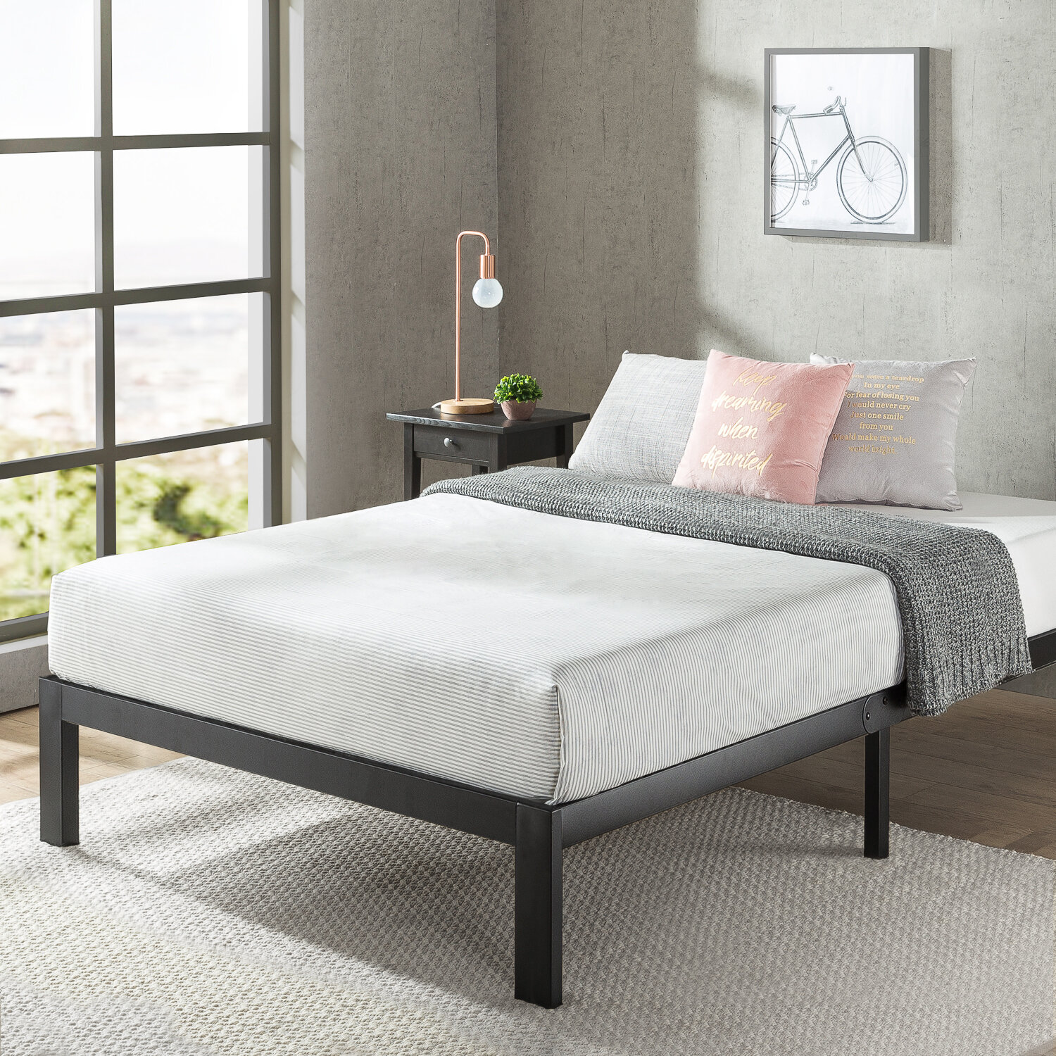 Hampton 14 Steel Platform Bed Reviews