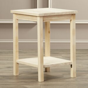 Toby Rectangular Wood End Table by Aug..