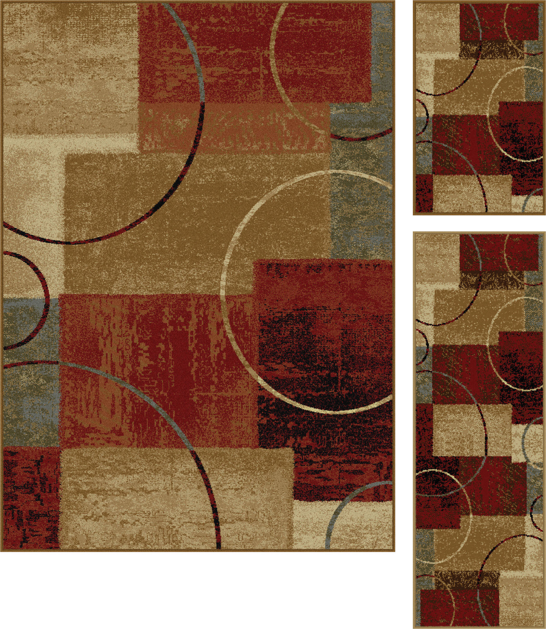 Latitude Run Colette Gold Red 3 Piece Area Rug Set Reviews Wayfair