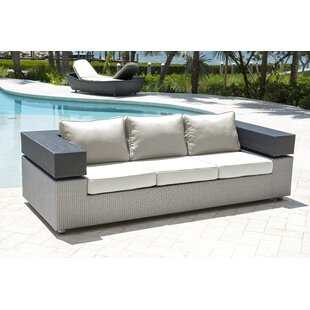 Panama Jack Outdoor Onyx Patio Sofa with Cushions