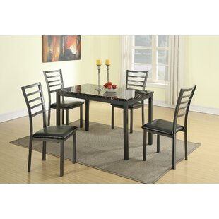 Caenas 5 Piece Dining Set by Latitude Run