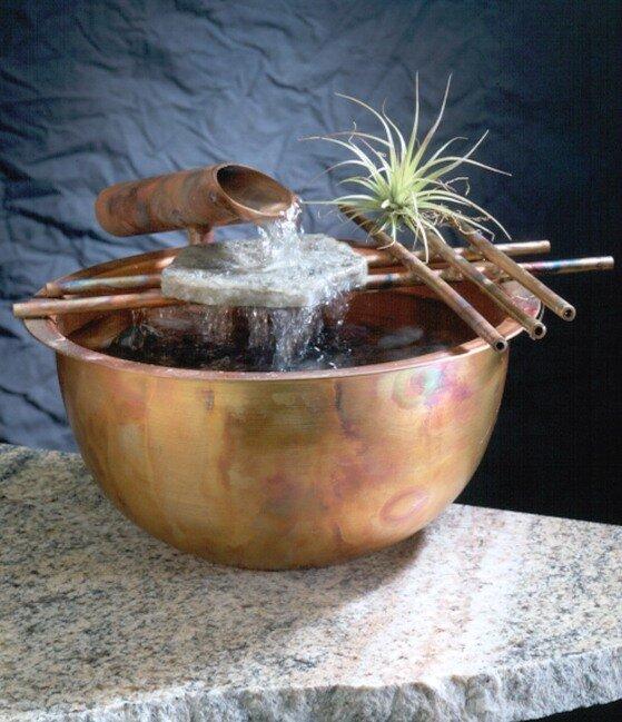 Copper Gentle Flow Tabletop Fountain