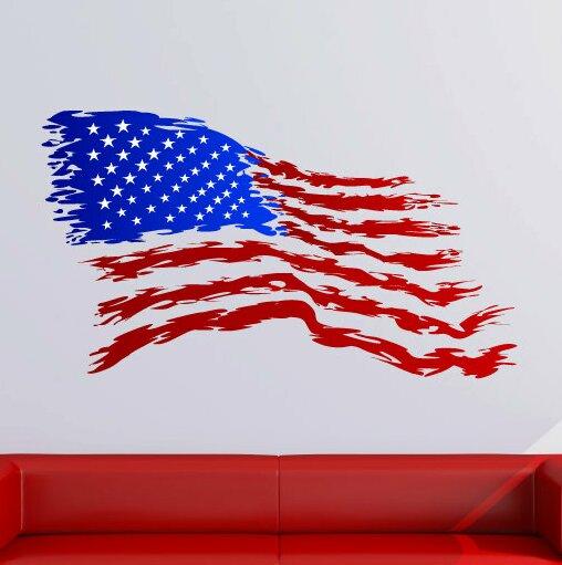 August Grove Shanita American Flag Wall