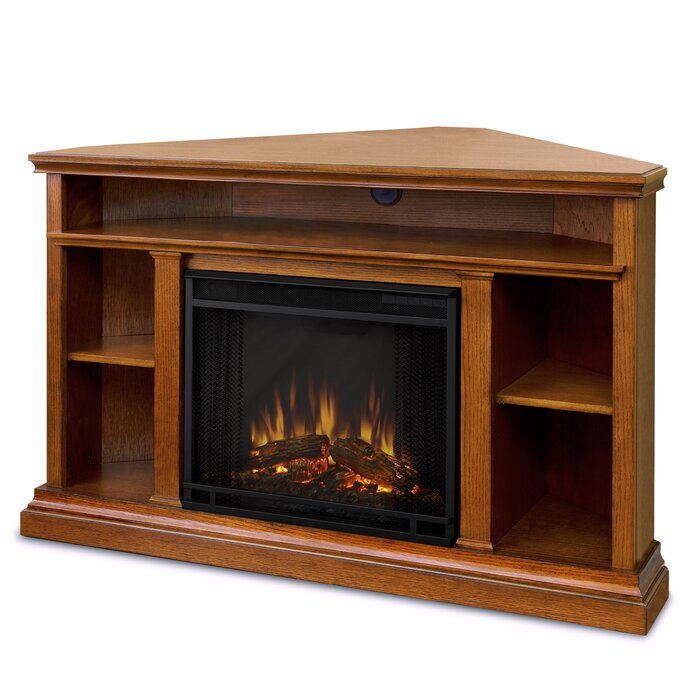 Churchill Corner Tv Stand For Tvs Up To 55 Inches With Fireplace Included