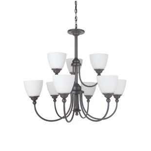 Winston Porter Alvan 9-Light Shaded Chandelier