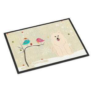 Christmas Presents Between Friends Samoyed Doormat