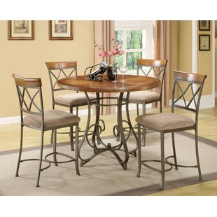 Cobbs 5 Piece Counter Height Dining Set Winston Porter