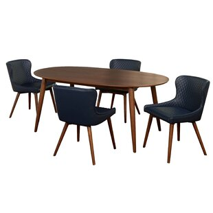 West Line 5 Piece Dining Set by George Oliver Wonderful