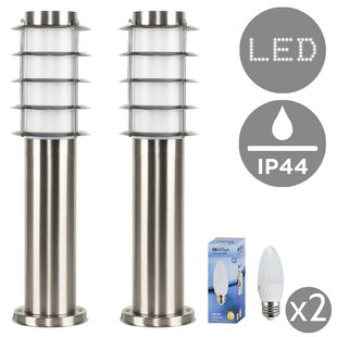 Compare Price New Canaan 45cm Bollard (Set Of 2)