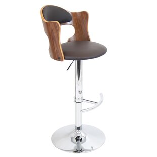 Marbury Adjustable Height Swivel Bar Stool Wade Logan
