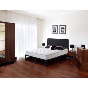 Faux Leather Steel Slat Platform Bed by Grantec International Inc
