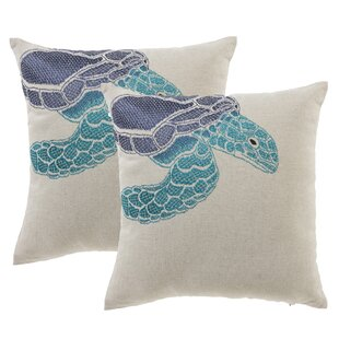 Sea Turtle Throw Pillow (Set of 2)