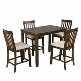 Siskiyou 5 - Piece Counter Height Solid Wood Dining Set by Red Barrel Studio®