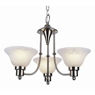 Find Newent 3-Light Shaded Chandelier By Charlton Home