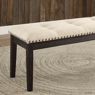 Charlton Home Carstens Wood Upholstered Bench