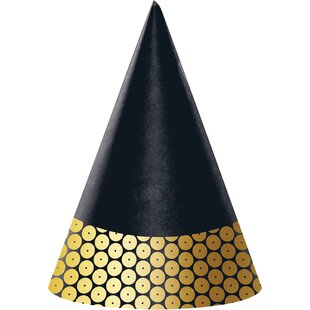 Sequin Hat Paper Disposable Party Favor (Set of 24)