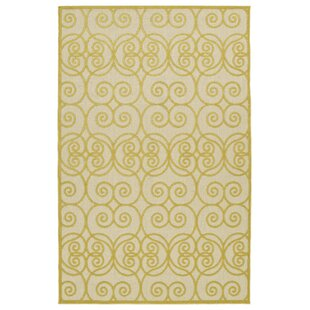 Covedale Gold Indoor/Outdoor Area Rug By Charlton Home