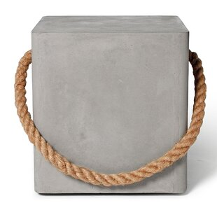 Great Deals Concrete Soft Edge Stool With Wheels And Rope