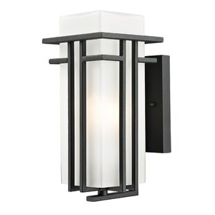 Online Reviews Weitzel 1-Light Outdoor Sconce By Winston Porter