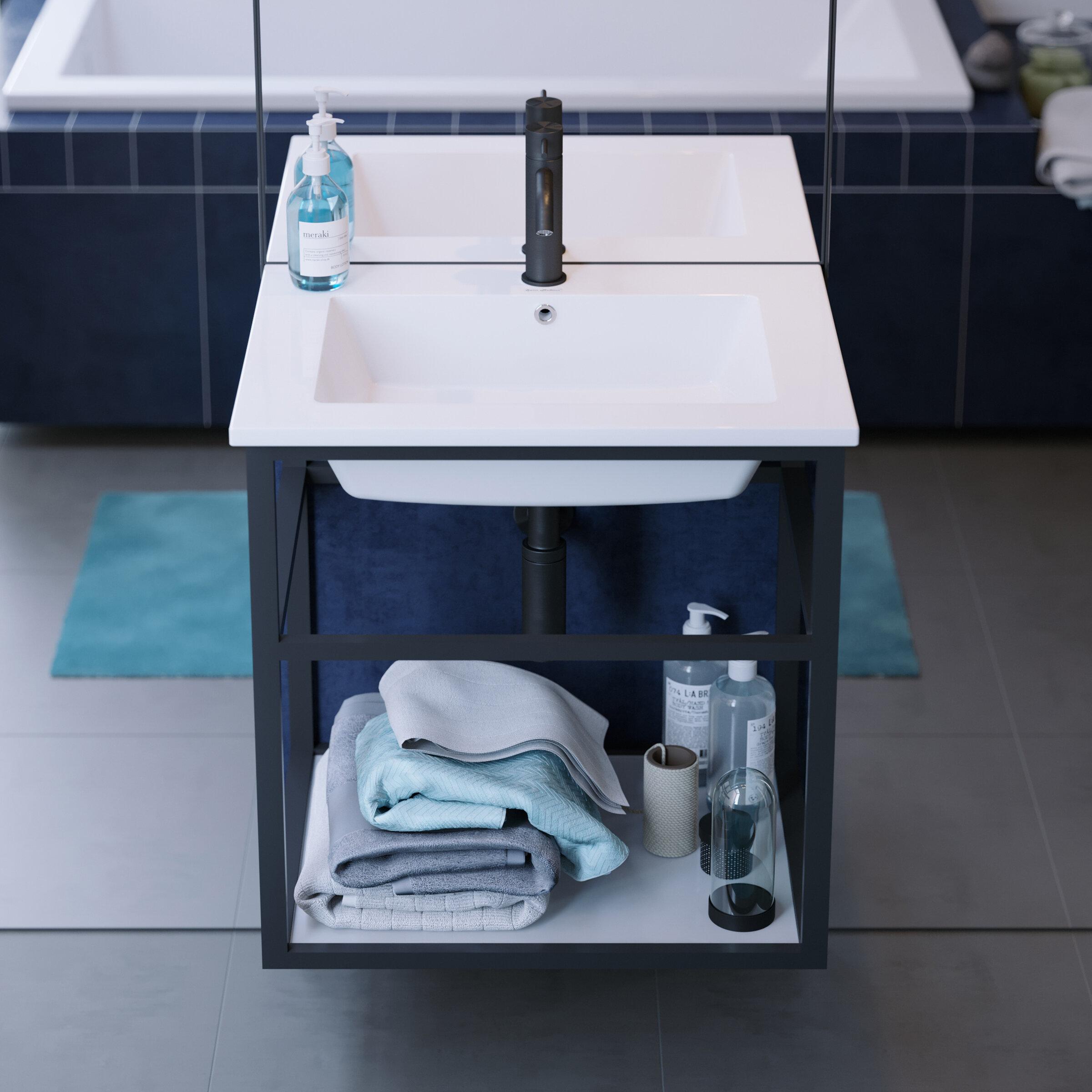 Swiss Madison Pierre 24 Single Metal Frame Open Shelf Bathroom Vanity Wayfair
