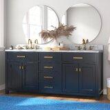 Crisler 72 Double Bathroom Vanity Set by Rosecliff Heights