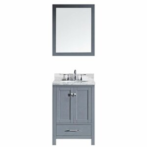"Serigne 25"" Single Bathroom Vanity Set with Mirror"