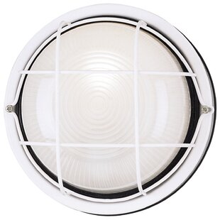 Affordable Exterior 1-Light Outdoor Bulkhead Light By Westinghouse Lighting