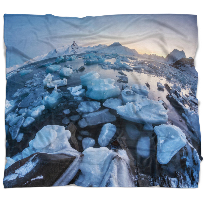 East Urban Home Seashore Unusual Arctic Ice Landscape Blanket Wayfair