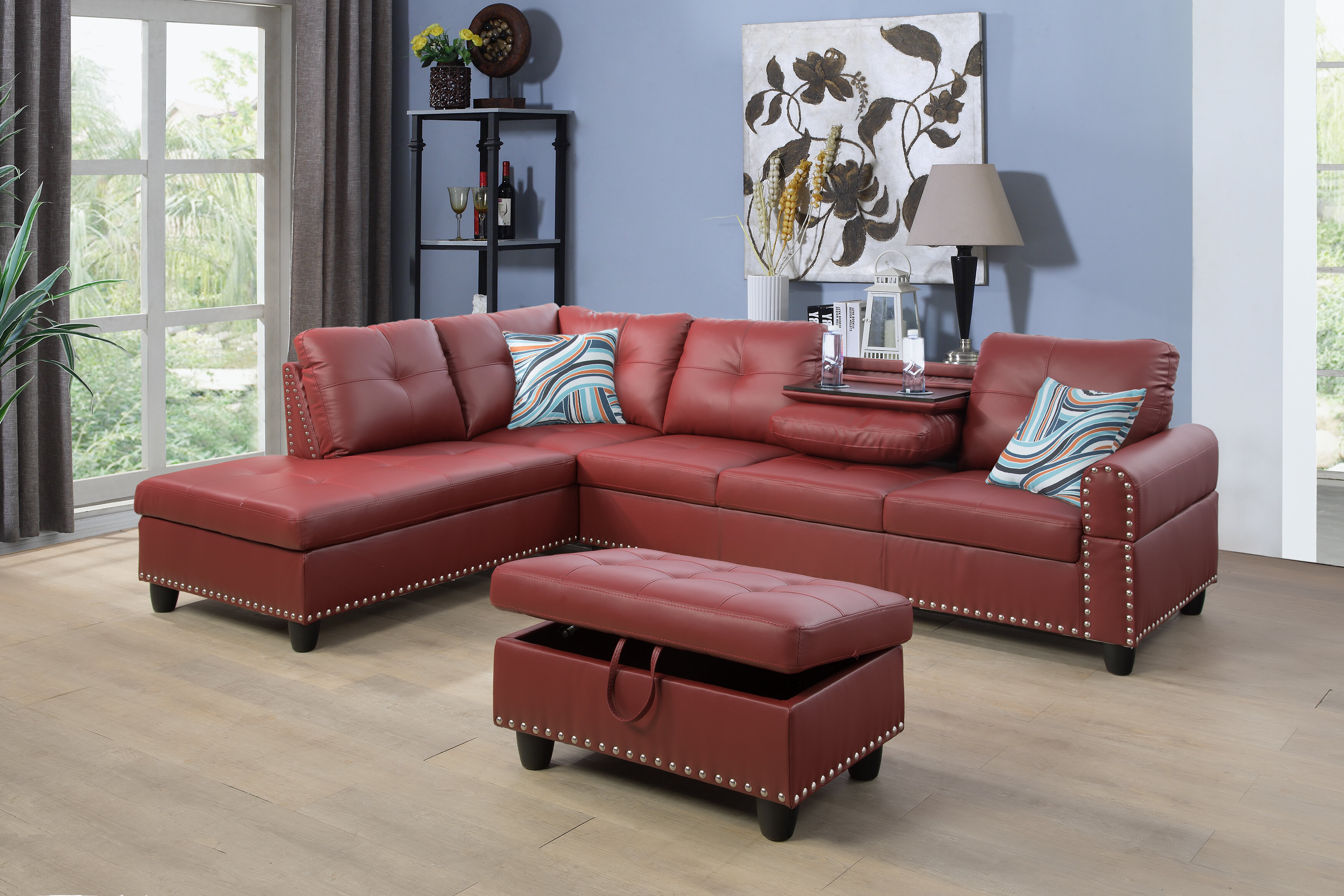 Faux Leather Modern Contemporary Sectionals You Ll Love In 2021 Wayfair
