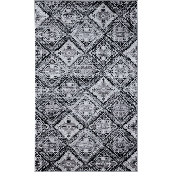 World Menagerie Bessoir Power Loom Black Rug Wayfair