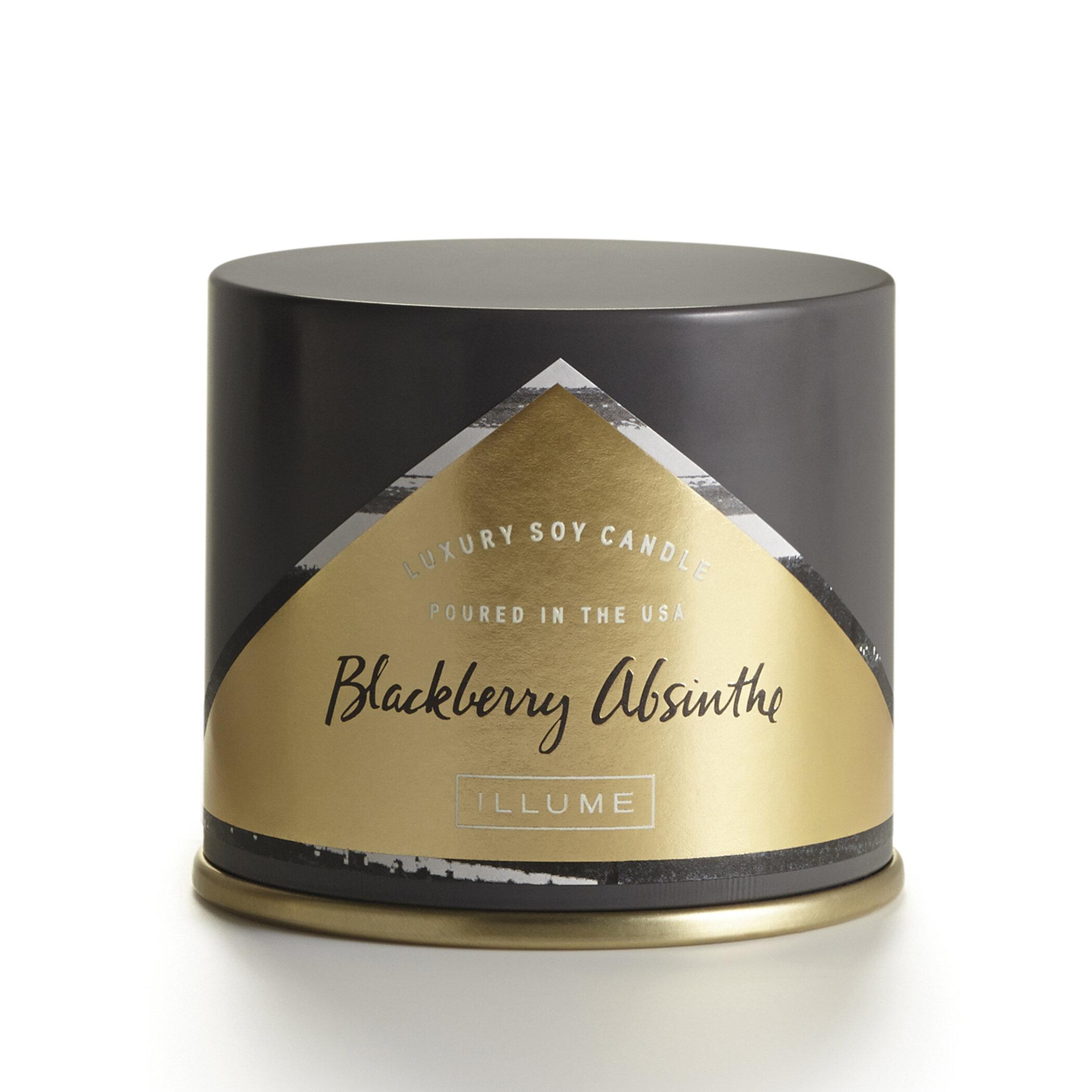 Illume Essentials Vanity Tin Blackberry Absinthe Scented Jar Candle Wayfair