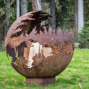 Cedar Creek Sculptures Death Star Steel F..