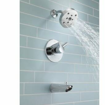 T14461 Ss Delta Compel Thermostatic Volume Control Tub And Shower Faucet Trim With Lever Handles And Monitor Reviews Wayfair