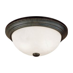 Charlton Home Bridwell 3-Light Flush Mount
