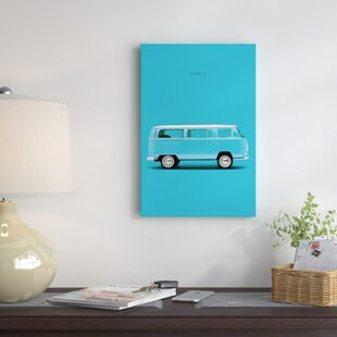 'Volkswagen Type 2' Graphic Art Print on Canvas By East Urban Home