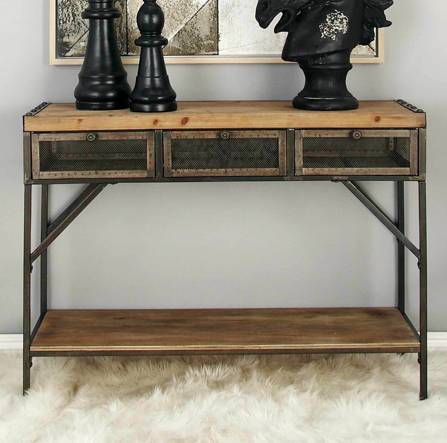 Console Table With Metal Legs Wayfair