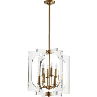 Pavan 8-Light Geometric Chandelier by Everly Quinn