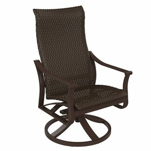 Corsica Woven High Back Swivel Chair by Tropitone