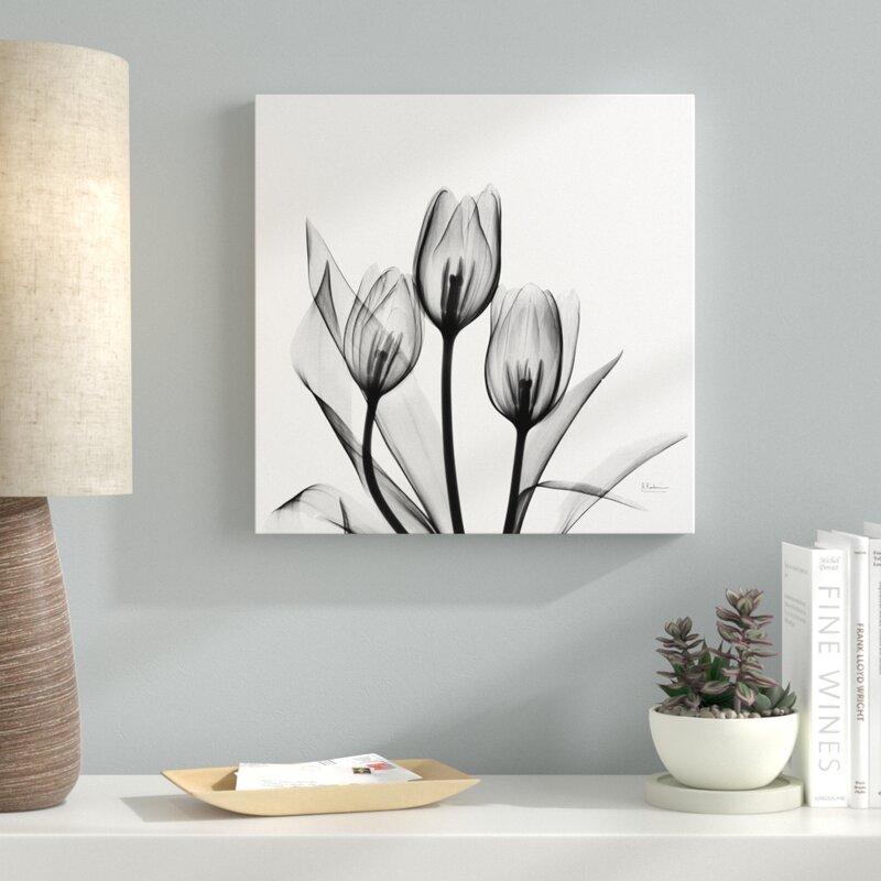 Latitude Run Tulips Graphic Art Print On Wrapped Canvas Reviews Wayfair