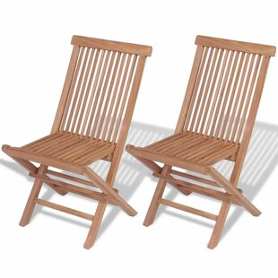 Teak Wood Folding Chair ...  sc 1 th 225 & Teak Wood Folding Chair (Set Of 2) By VidaXL | Best Price