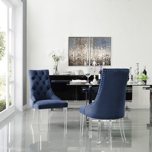 Reviews Hannatou Upholstered Dining Chair (Set of 2) by Everly Quinn Reviews (2019) & Buyer's Guide