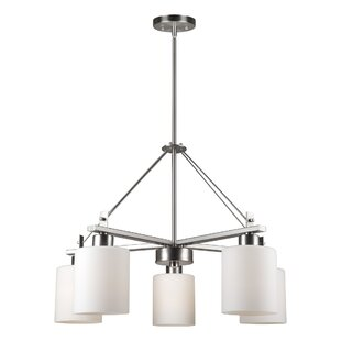 Ebern Designs Lundy 5-Light Shaded Chandelier