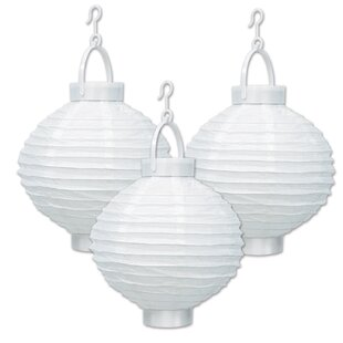 The Beistle Company Light-Up Paper Lantern Lamp (Set of 3)